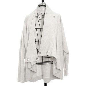 Lululemon Asymmetrical Sweater with Snap Closure